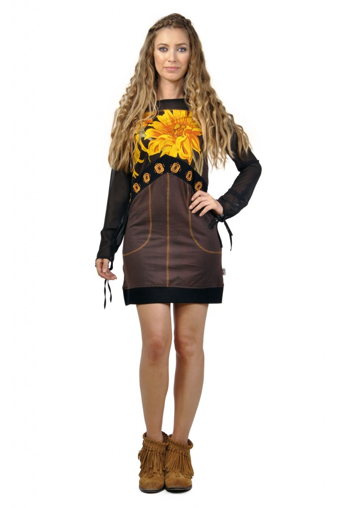 Savage Culture Sexy Sunflower Tassel Dress Yovana