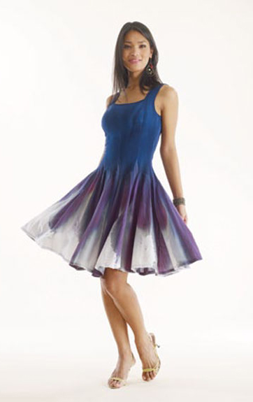 Luna Luz Sensual Feather Dyed Dress