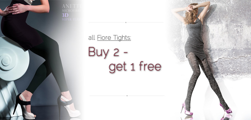 Buy 2 Fiore tights - get 1 free