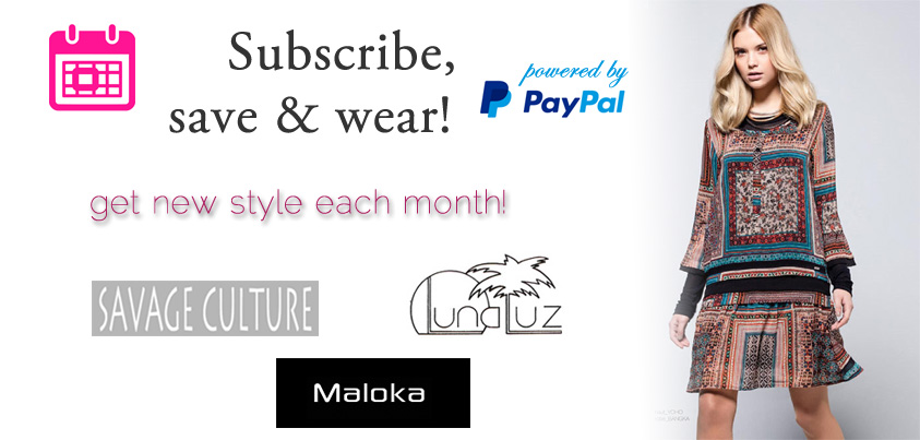 Subscribe, Save and Wear: Get New Style Each Month