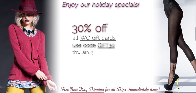 Wild Curves Holiday Special: 30% off Gift Cards