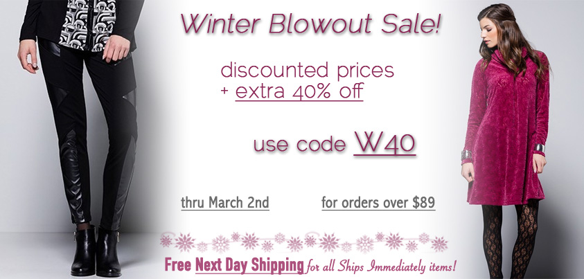 Winter Blowout Sale: discounted prices + extra 40% off
