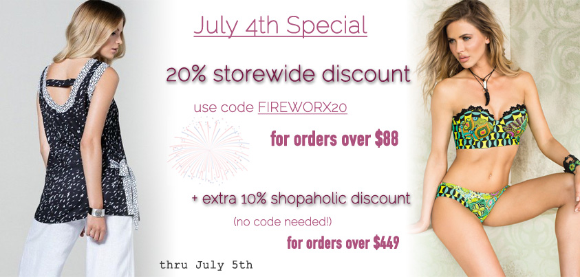 July 4th Special - 20% off storewide for orders over $88 + 10% off orders over $449