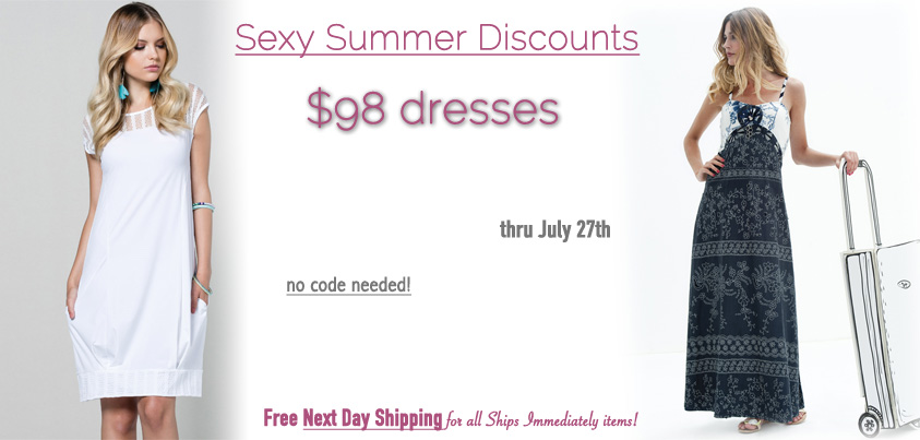 Sexy Summer Discounts: $98 dresses