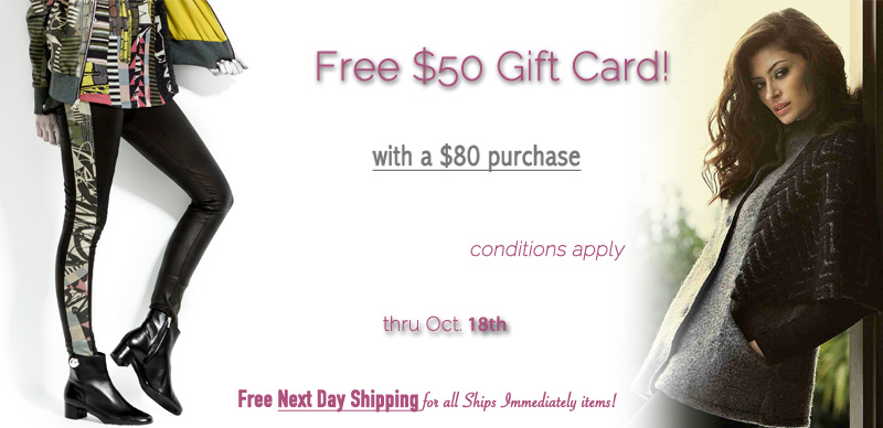 Get a $50 gift card with any $80 purchase