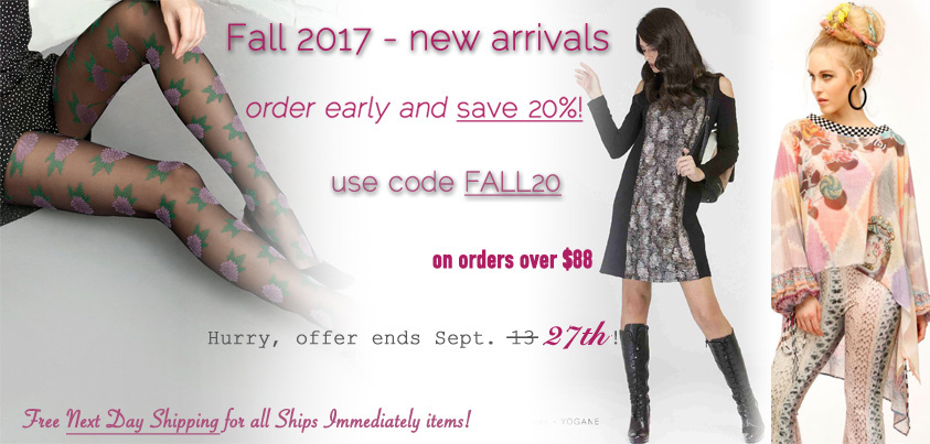 Fall 2017 Preorder: Get 20% off on all orders over $88