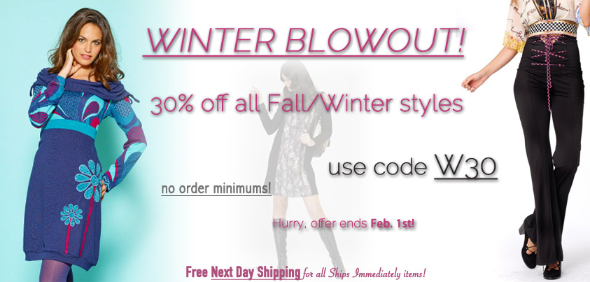 Winter Blowout: 30% off all fall/winter styles