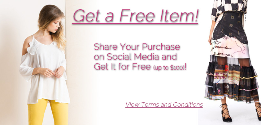 Get a Free Item: Share Your Purchase on Social Media and Get It for Free