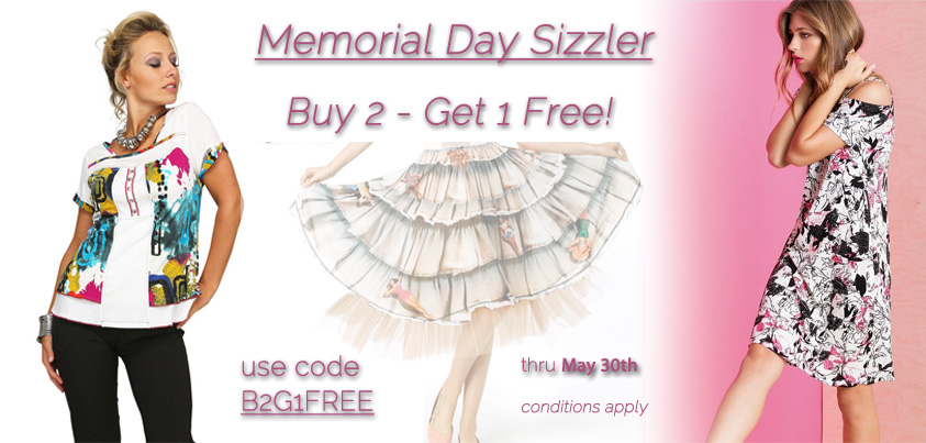 Memorial Day Sizzler: Buy 2 - Get 1 Free