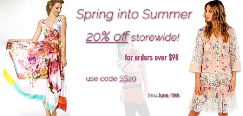 Spring into Summer: get 20% off orders over $98