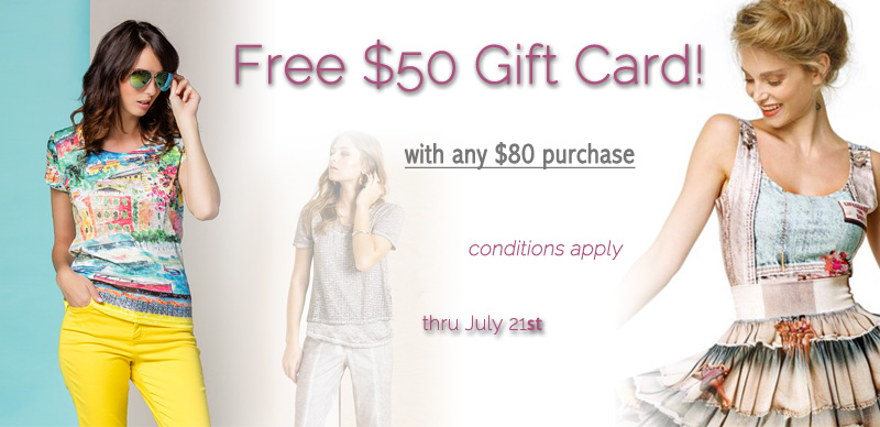 Free $50 Gift Card with Any Order over $80
