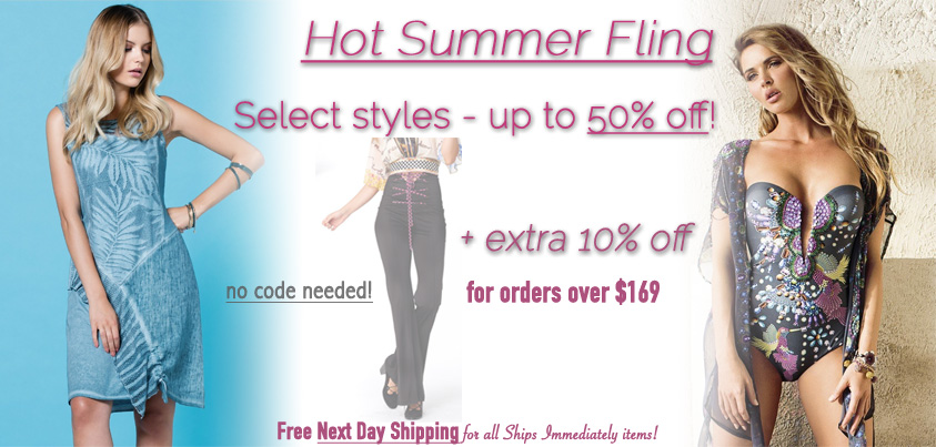 Hot Summer Fling: Select Styles up to 50% off + 10% off orders over $169
