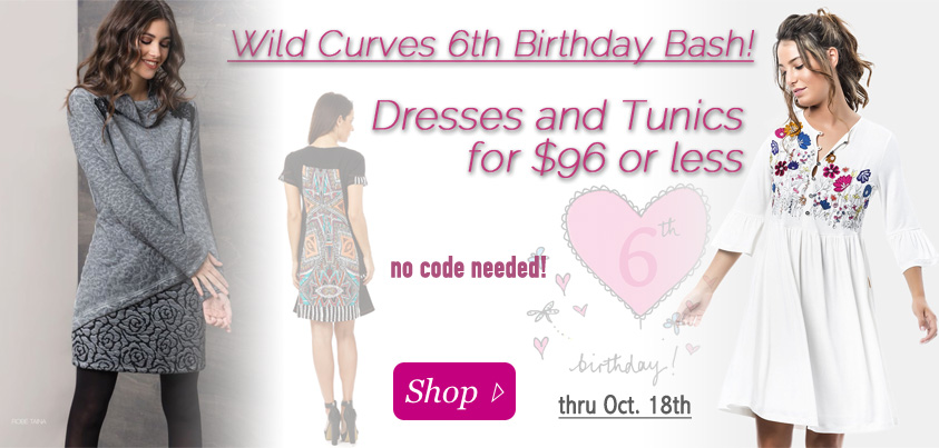 Wild Curves 6th Birthday Bash: Dresses and Tunics for $96 and Less