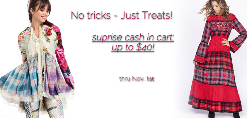 No Tricks Just Treats: Surprise Cash in Cart, up to $40