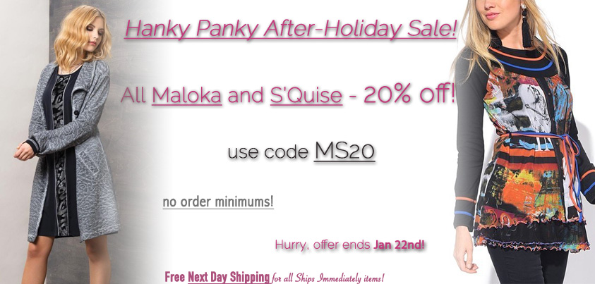 Hanky Panky After-Holiday Sale: All Maloka and S'Quise 20% off