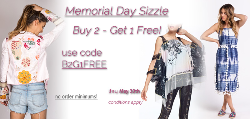 Memorial Day Sizzle: Buy Two - Get One Free