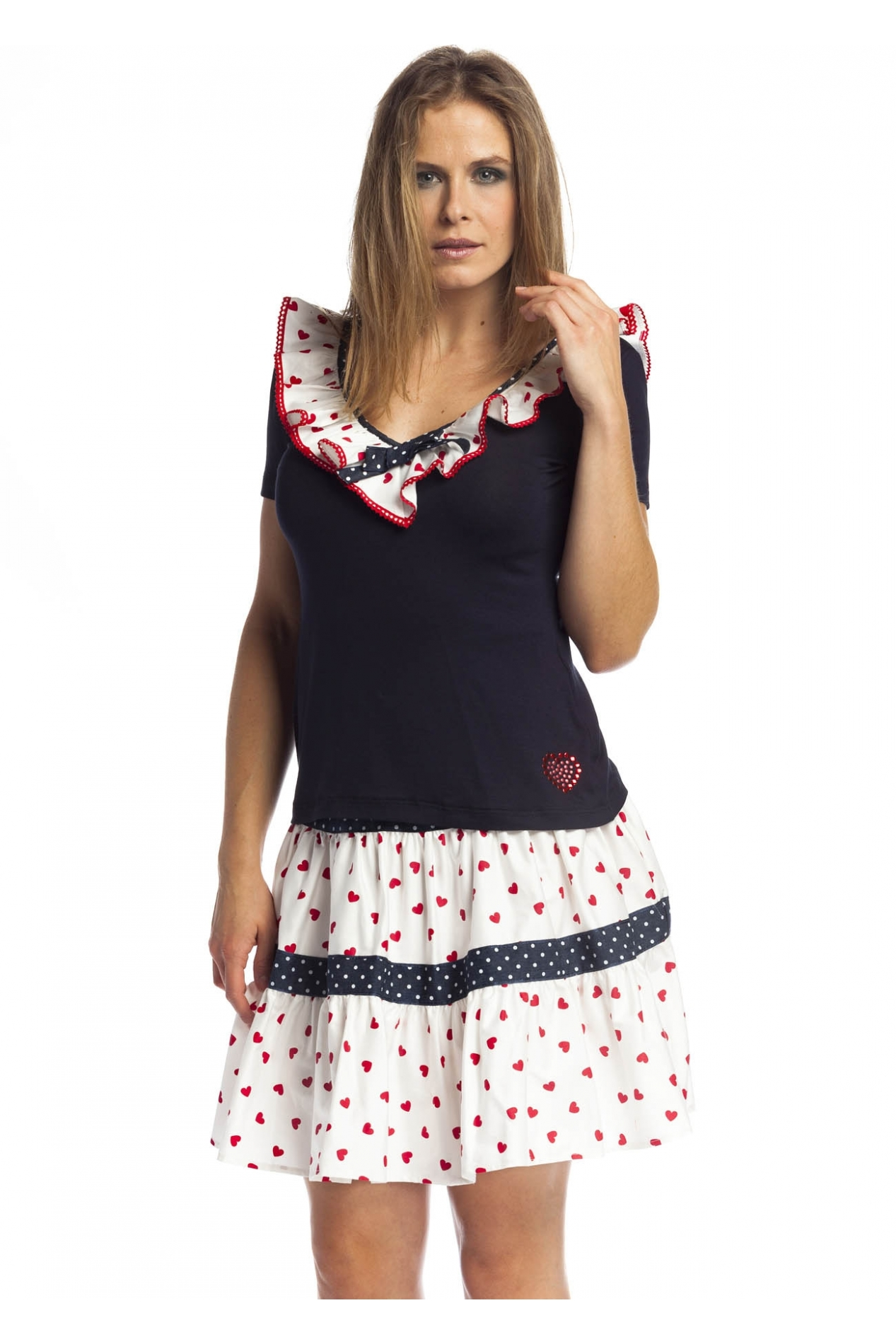 Rosalita McGee: Palyful Sailor Tiara Cotton Top