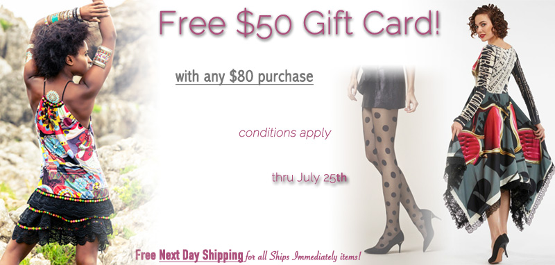 Free $50 Gift Card with $80 Purchase