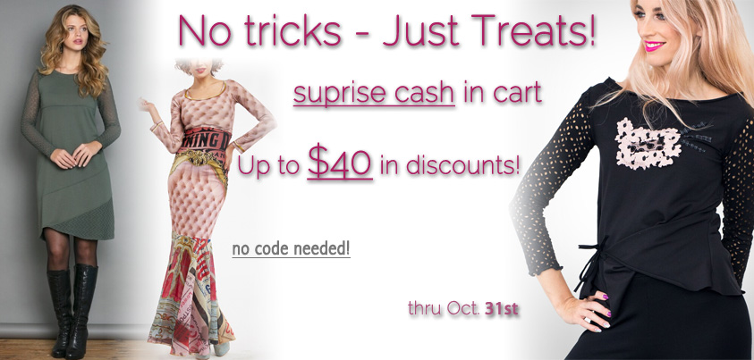 No Tricks Just Treats: Up to $40 of Surprise Cash in Your Cart