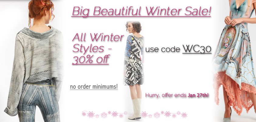Big Bold Winter Sale: 30% off all winter styles