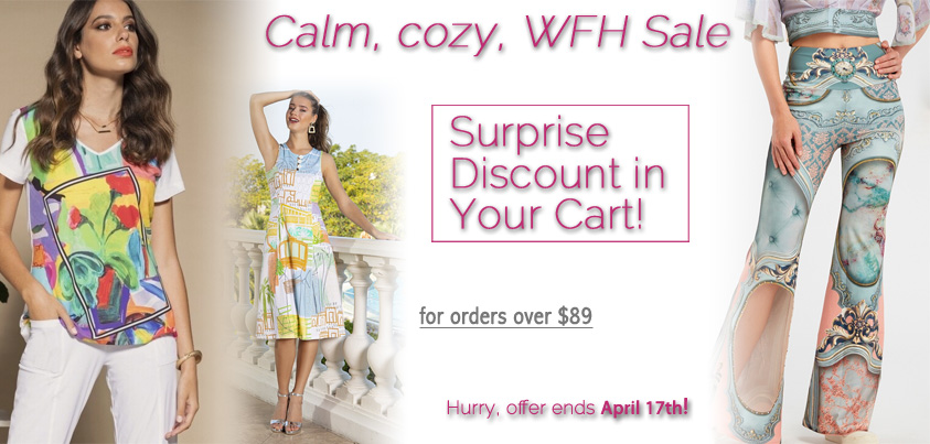 Calm, Cozy, WFH sale: Surprise Discount in Your Cart