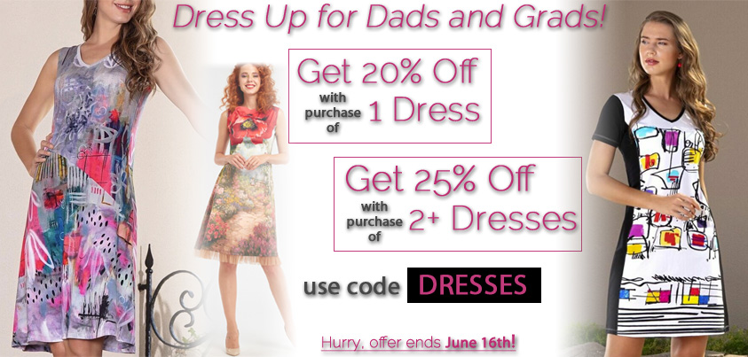 Dress Up for Dads and Grads: Get 20% off One Dress, Get 25% off 2 or more dresses
