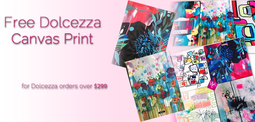 Free Dolcezza painting for Dolcezza orders over $299