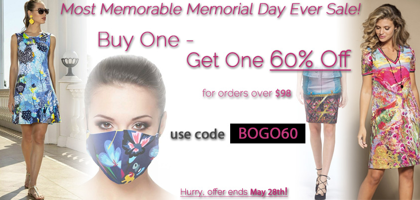 Most Memorable Memorial Day Ever Sale: Buy One - Get One 60% Off
