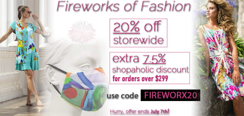 July 4th Special: 20% off Storewide, extra 7.5% shopaholic discount for orders over $299