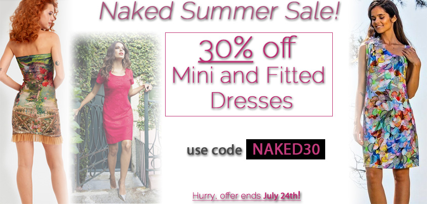 Naked Summer Sale: 30% off Mini and Fitted Dresses
