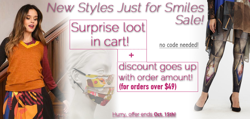 New Styles Just for Smiles Sale: Surprise Loot in Cart