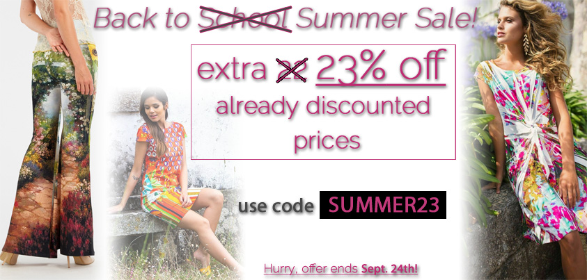 Back to Summer Sale: extra 23% off already discounted prices