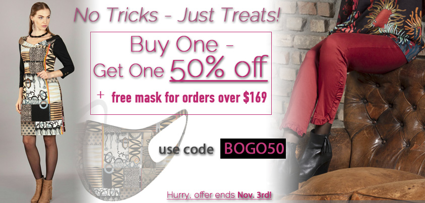 No Tricks - Just Treats: Buy One - Get One 50% off