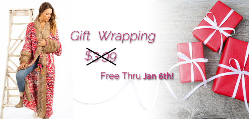 Free Gift Wrap through Jan. 6th