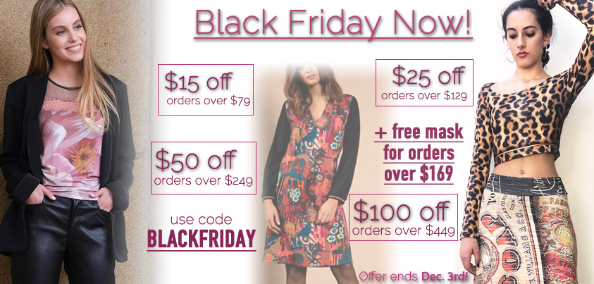 Black Friday Now: Get $15 off orders over $79, $25 off orders over $129, $50 off orders over $249, $100 orders over $449