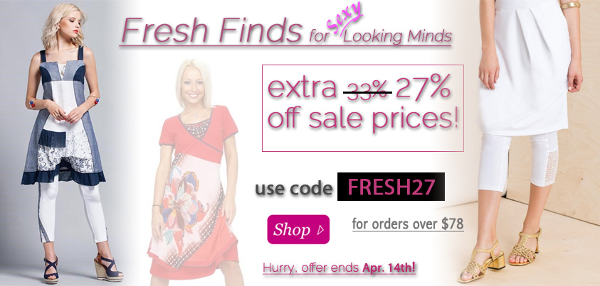 Fresh Finds for Looking Minds: extra 27% off Sale Prices
