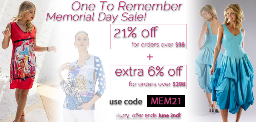 One to Remember Memorial Day Sale: 21% off orders over $98 + extra 6% off orders over $298