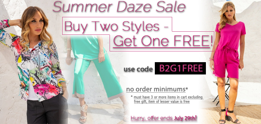 Summer Daze Sale: Buy Two Styles - Get One Free